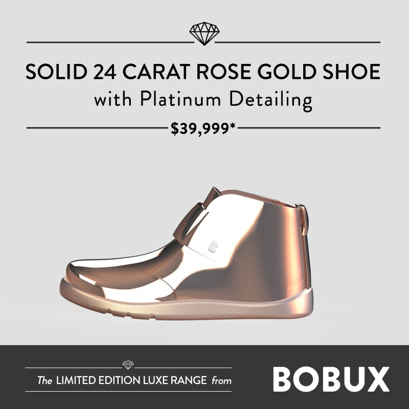 Gold, Wood and Wax Shoes: The Bobux Luxe Explained