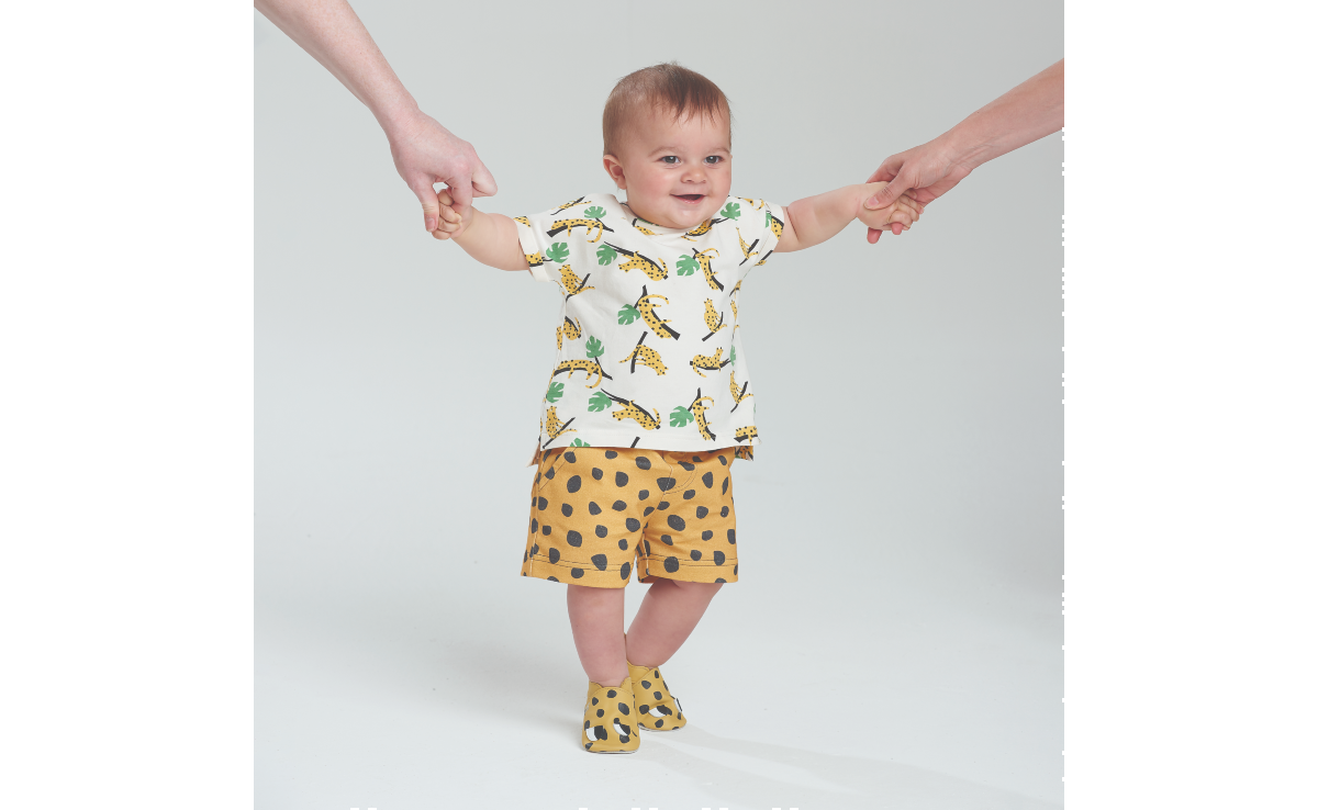 Miami Bobux mustard leopard t shirt polka dot shorts shoes bonniemob