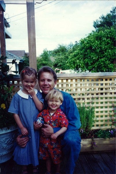 Chris Bennett and kids Bobux