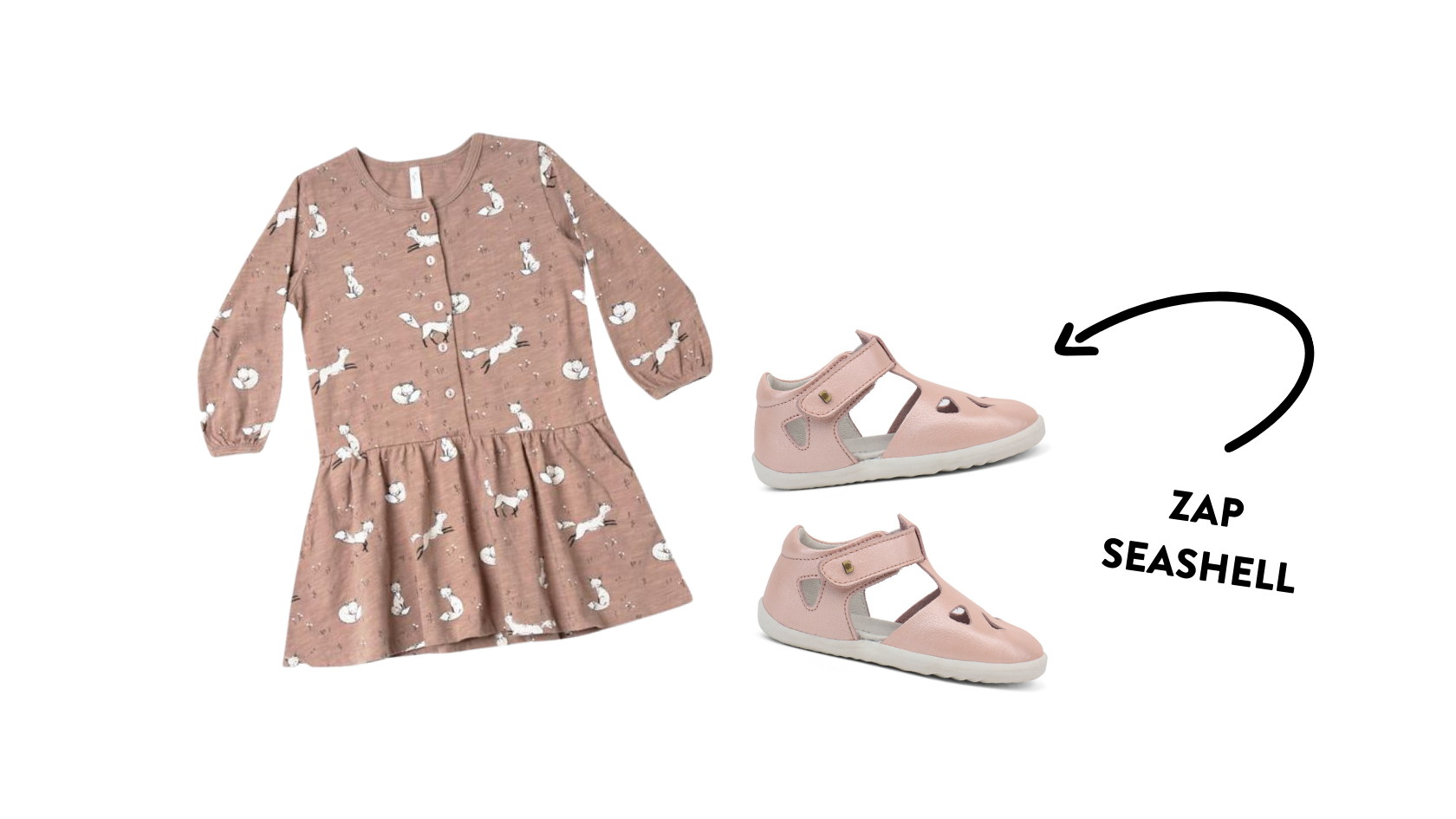 rylee cru winter fox button up pink dress bobux zap quickdry sandals seashell outfit